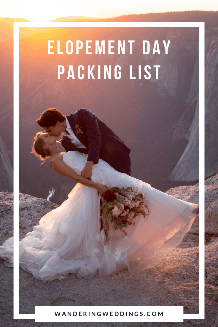 elopement day packing list