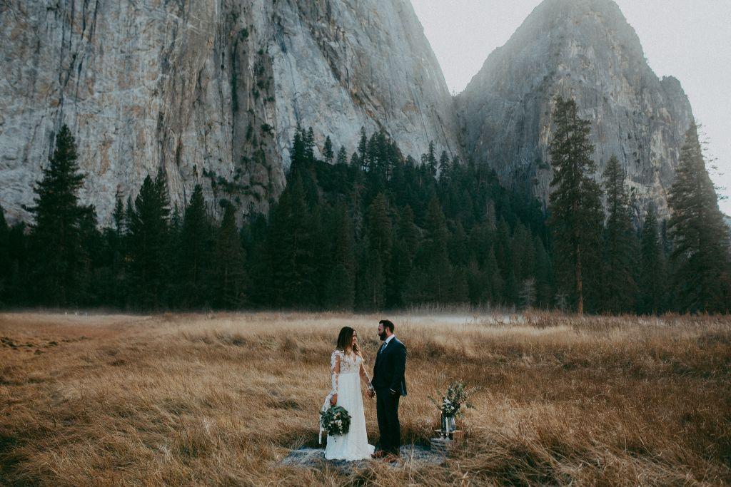 yosemite national park california styled elopement wedding