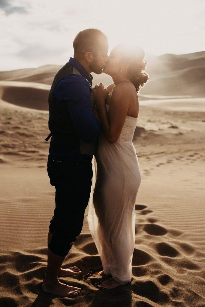 great sand dunes national park colorado elopement wedding