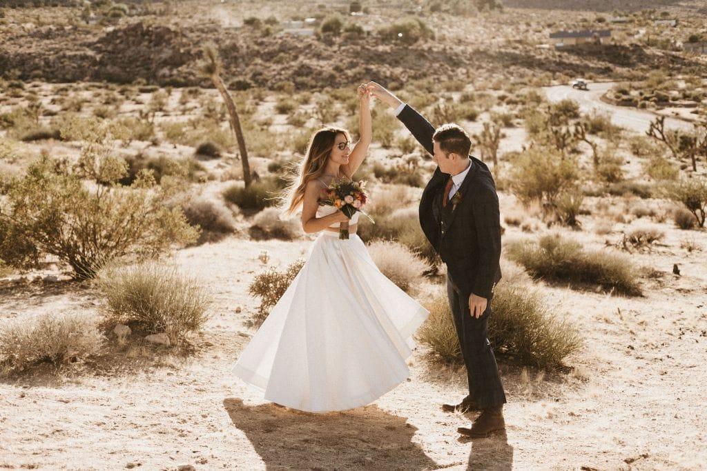 Sacred Sands Wedding In Joshua Tree Ca Nicole Brett Wandering