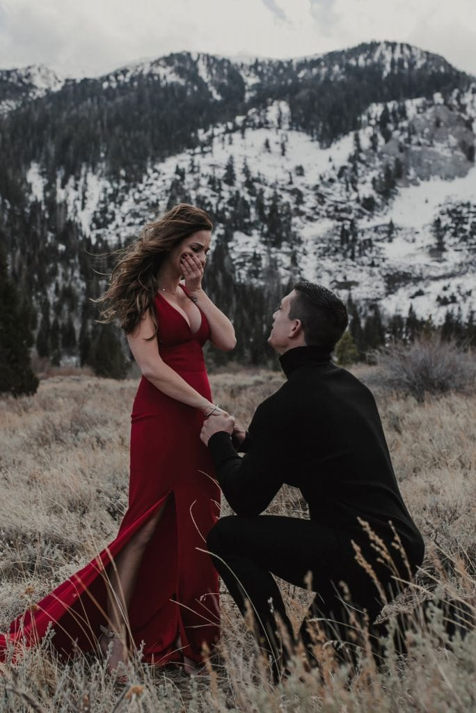 Gorgeous Convict Lake Proposal in Mammoth, CA | Tiffany & Dayne
