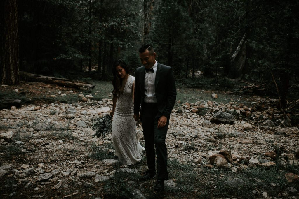 yosemite national park california elopement wedding