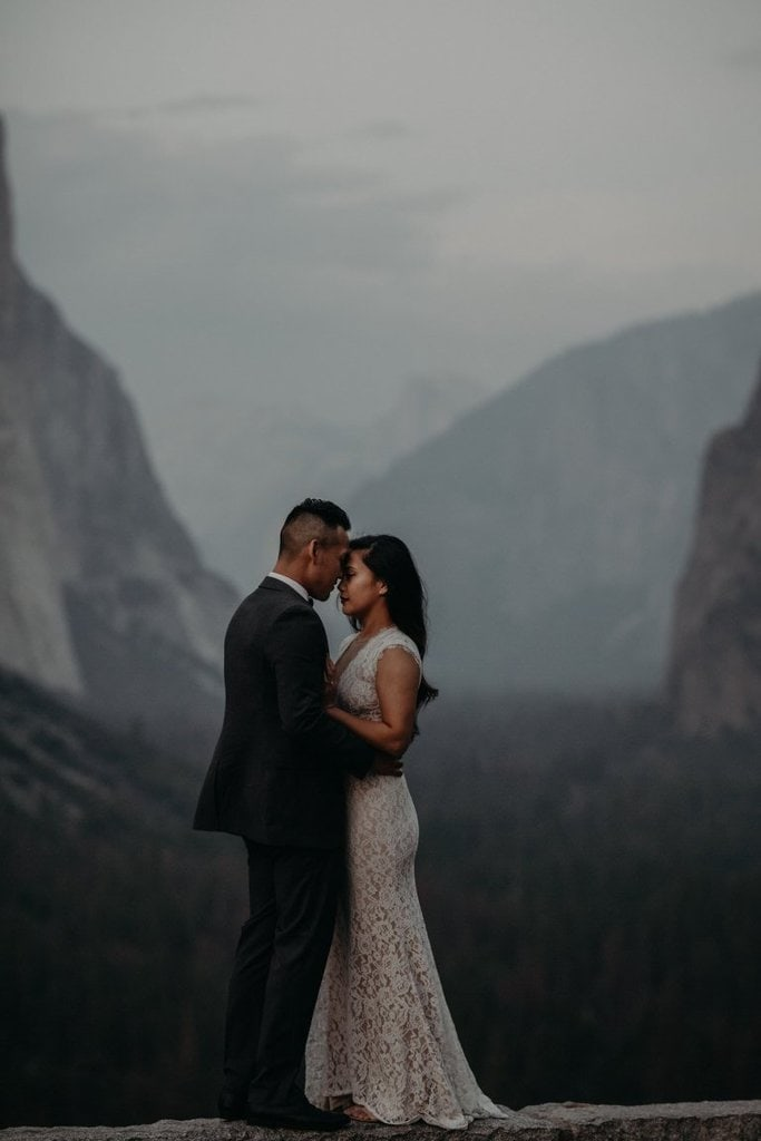 yosemite national park california elopement wedding