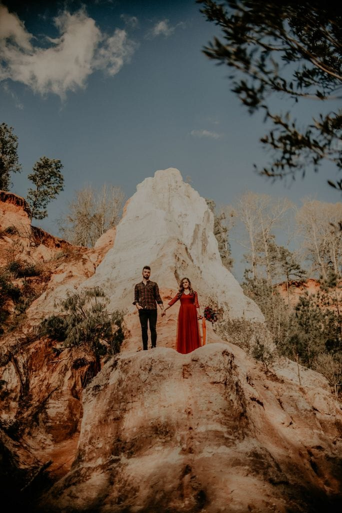Adventurous Canyon Engagement Session in Lumpkin, GA | Brianna & Michael