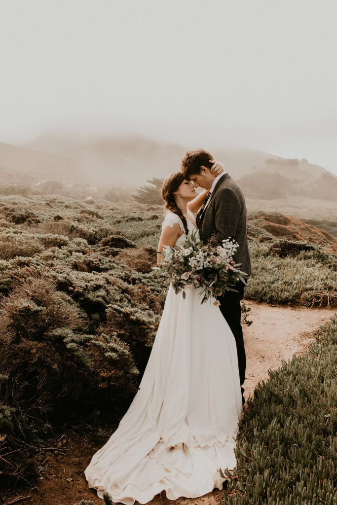 Misty Seaside Styled Elopement in Big Sur, CA | Becky & Victor