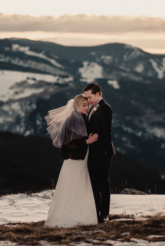 Intimate Snow-Capped Mountain Wedding in Vail, CO | BobieJo & Darren