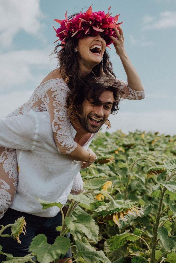 Sunflower Fields Couples Inspiration on Maui, HI | Danielle & Louis