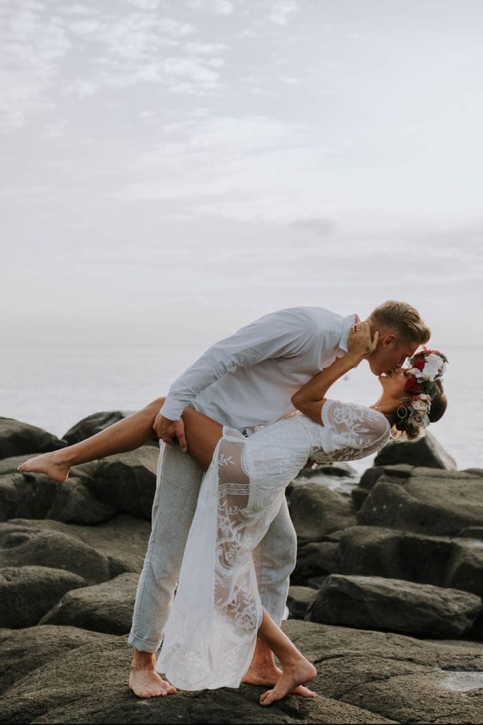 Passionate Beach Elopement Inspiration in Oahu, HI | Kitty & Albert