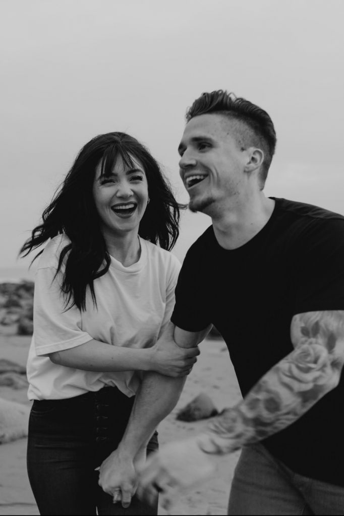 Engagement Fun on the Beach in Malibu, CA | Morgan & CJ