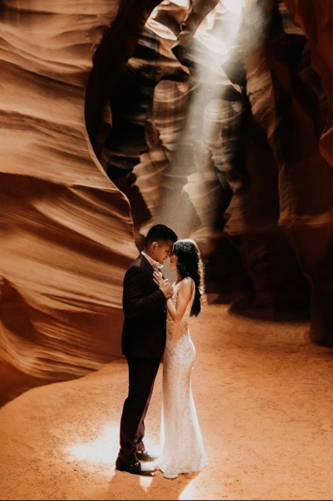 Stunning Engagement Session at Antelope Canyon, AZ | Letty & Gerard
