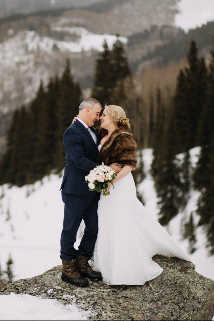 winter telluride colorado elopement wedding