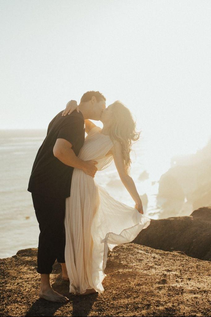 Adventurous, Beach Engagement Session in Malibu, CA | Cecily & Eric