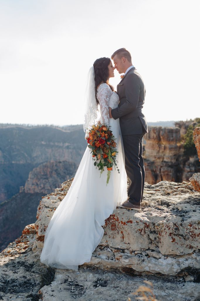 North Rim Bridal Session at Grand Canyon National Park, AZ | Reagan & Nate