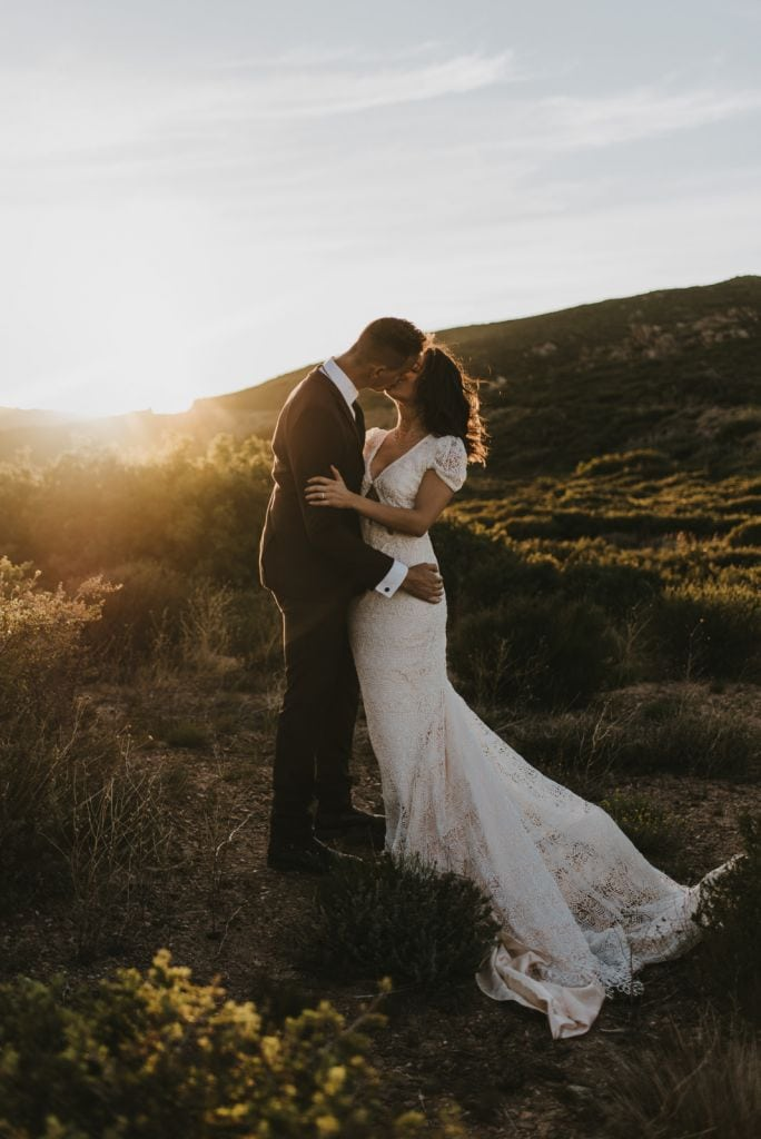 Windy, Sunset Elopement Inspiration in Mount Laguna, CA | Jess & Mak