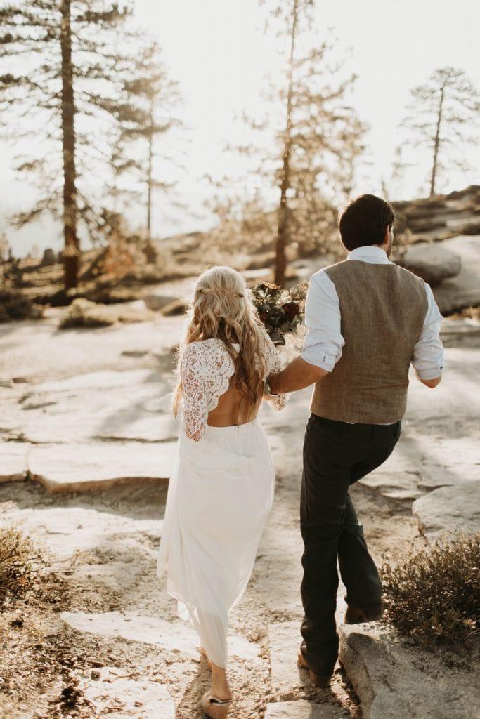 adventurous yosemite national park elopement wedding