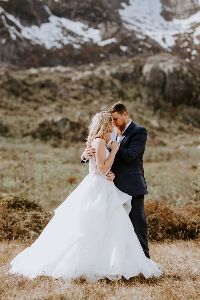 Mountain And Mood Wedding Vow Renewal Ceremony Lofoten Islands