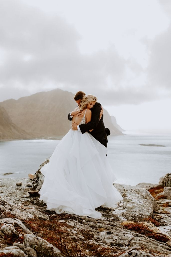 Breathtaking Lofoten Islands Vow Renewal in Leknes, Norway | Holly & Jonny