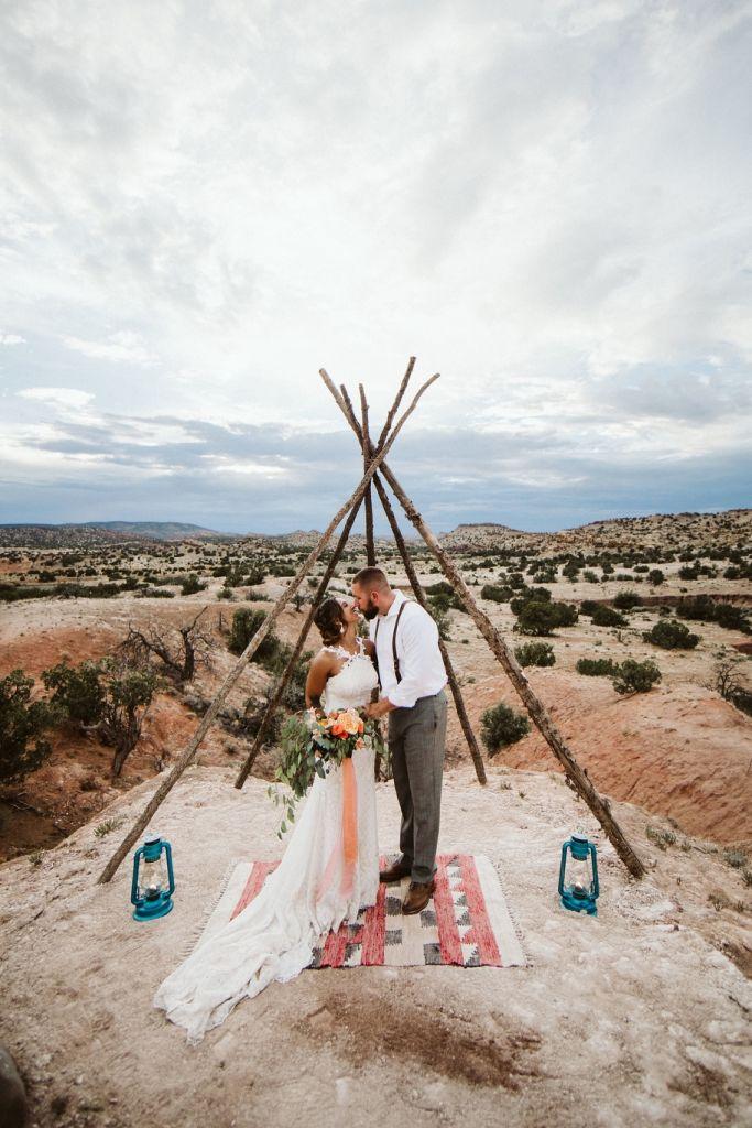 Boundless Desert Harbor Retreat Elopement in Sandia Park, NM   Rachael & Russell