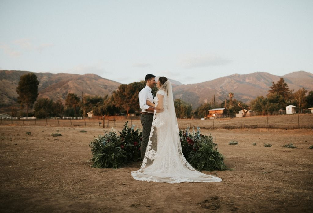 rustic wedding a light in a barn yucaipa southern california sunset