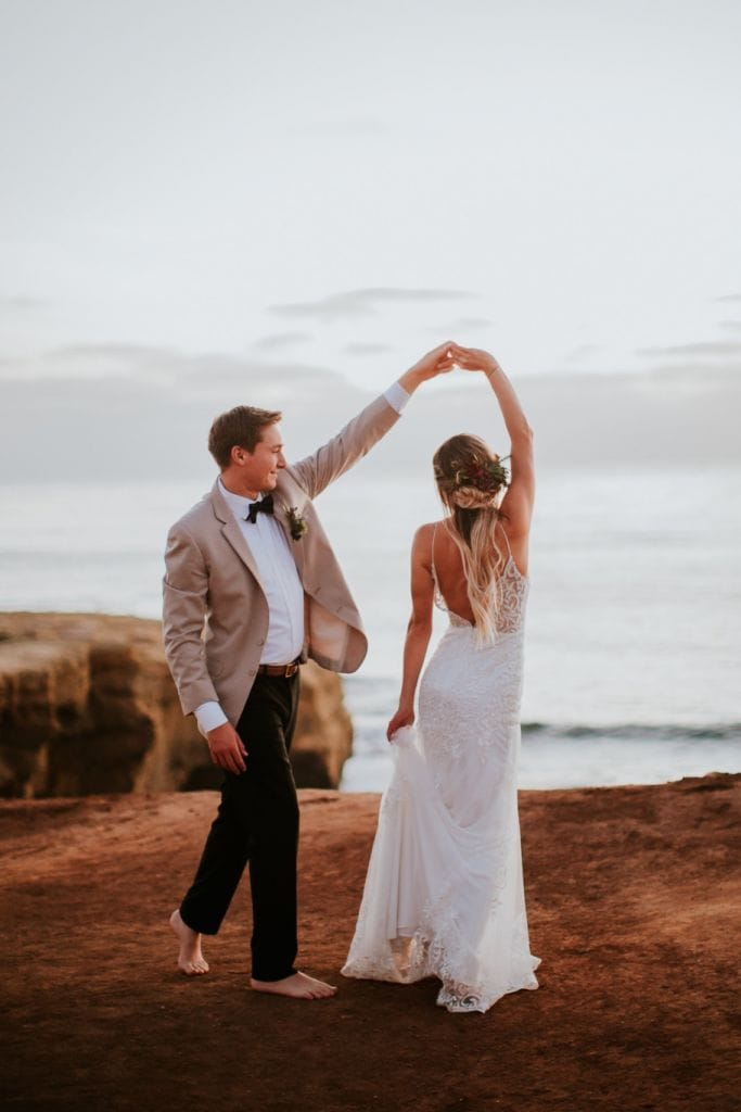 Boho Beachfront Styled Elopement at Sunset Cliffs, CA | Jordan & Cameron