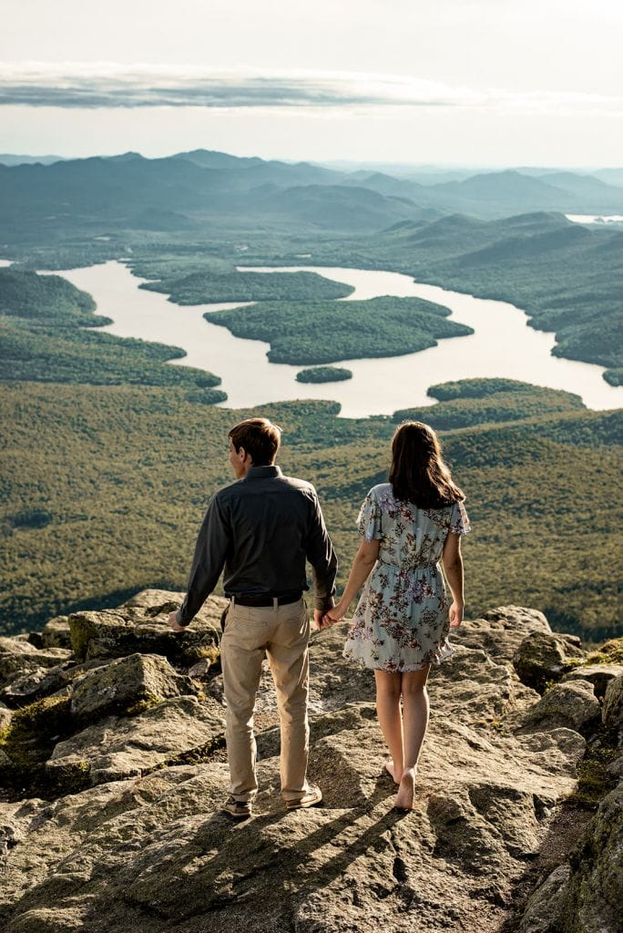 Stunning Mountaintop Engagment Session in Adirondacks, NY | Jennah & Dan