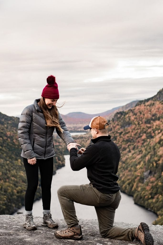 Fall Mountain Proposal in Indian Head Mountain, NY | Ashley & Joseph