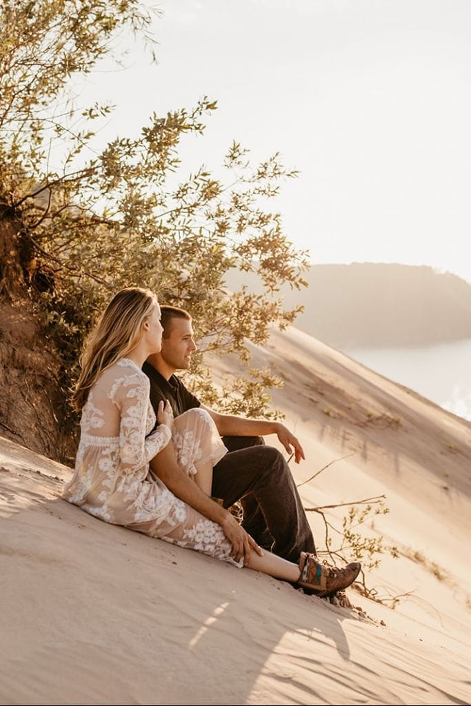 Adventurous Dunes Engagement Session in Munising, MI | Rachel & Jeff