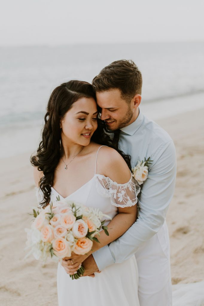 Romantic Nusa Dua Elopement at Samabe Beach in Bali, Indonesia | Ry & Curtis
