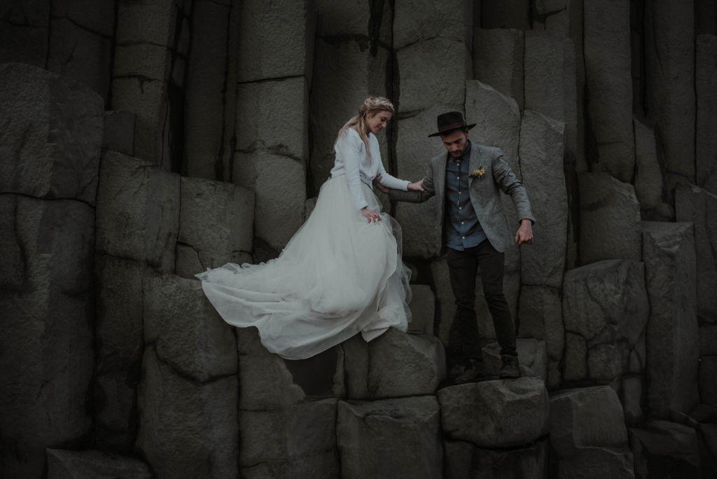 southern iceland waterfall elopement adventure wedding