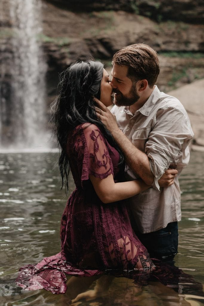 Intimate Waterfall Adventure Engagement Session in Altamont, TN | Emily & Blake