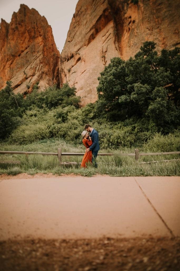 garden of the gods colorado springs engagement adventure session