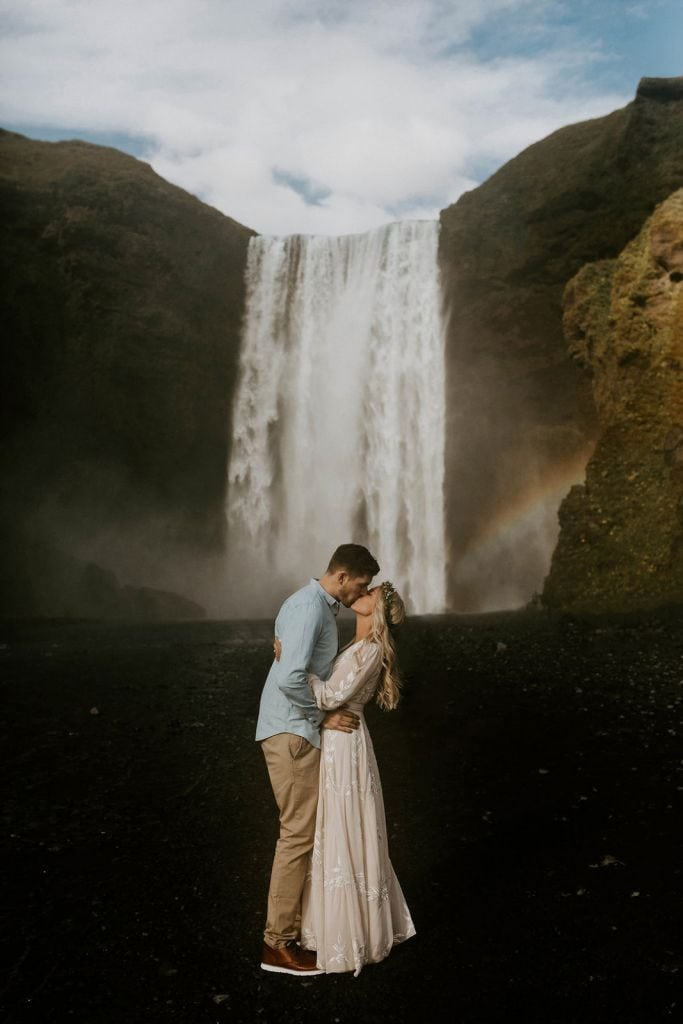 Windy Beach & Cliffside Engagement Session in Vik, Iceland | Biz & Craig