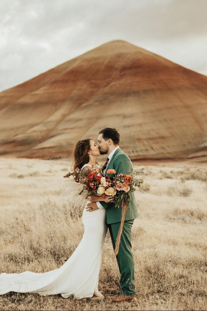 Breathtaking Painted Hills Elopement in Wheeler County, OR | Erin & Chris