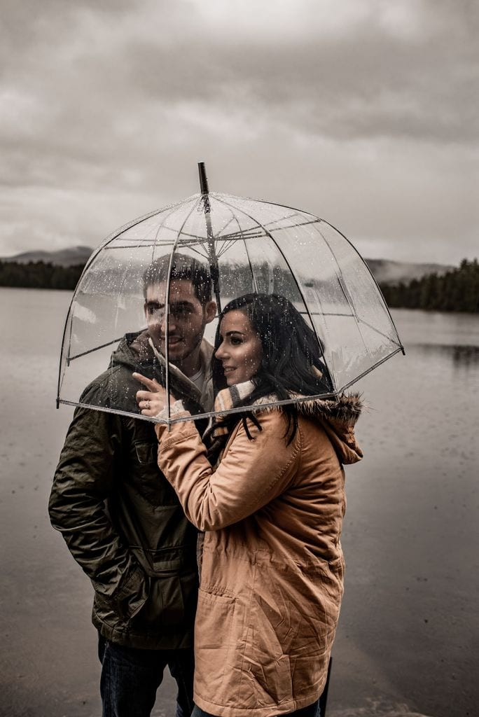 Rainy, Adventurous Engagement Session in the Adirondack Mountains, NY | Kristin & Chris