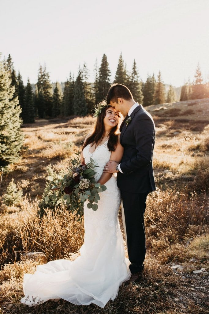 mountaintop elopement adventurous wedding silverton colorado
