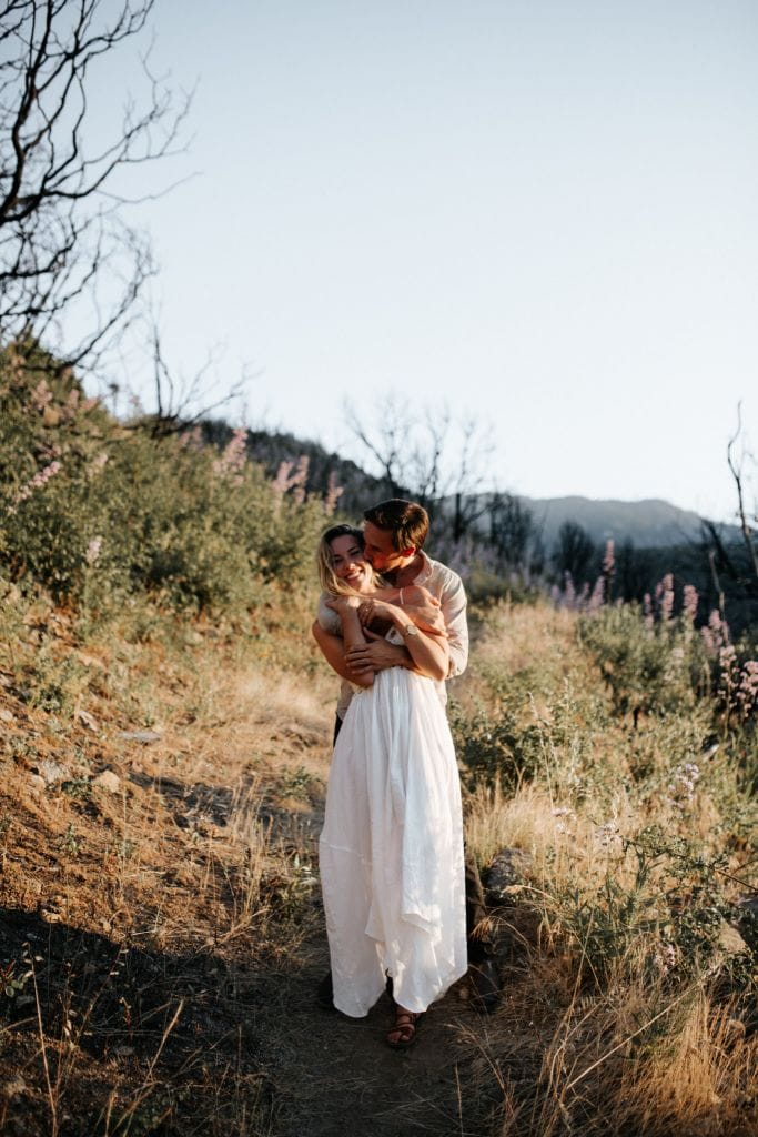 kings canyon sequoia national park california engagement adventure session