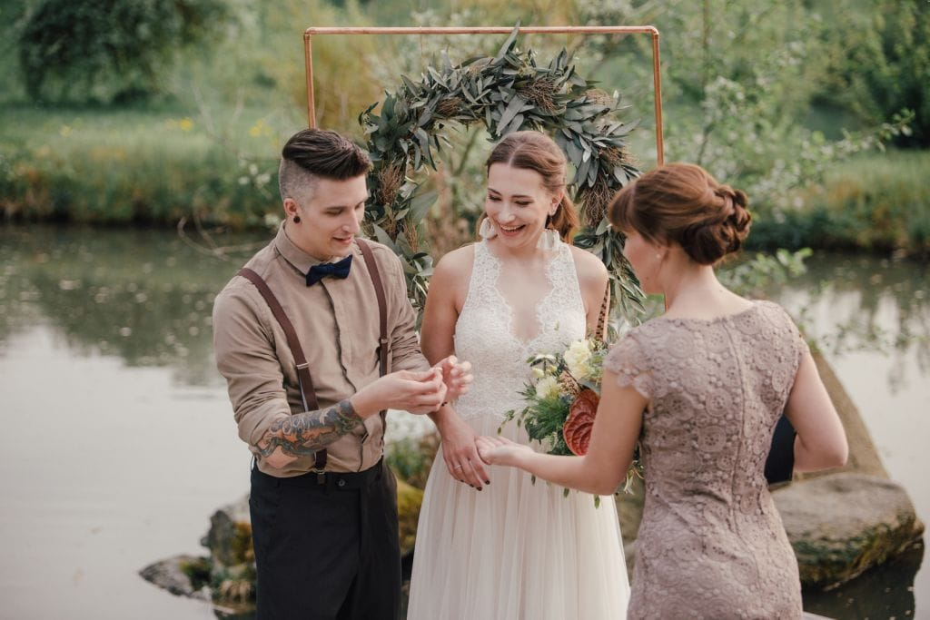 rustic elopement wedding hofgut hohenstein lautertal germany