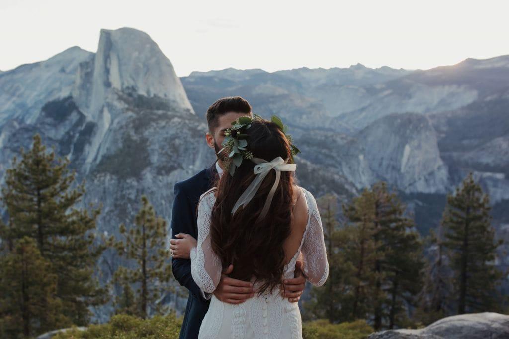 yosemite national park glacier point el capitan meadows taft point elopement adventurous wedding