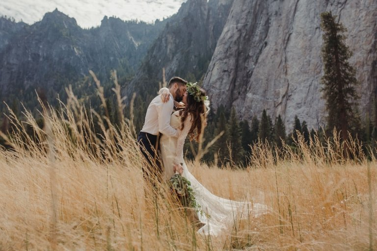 yosemite national park glacier point el capitan meadows taft point elopement adventurous wedding