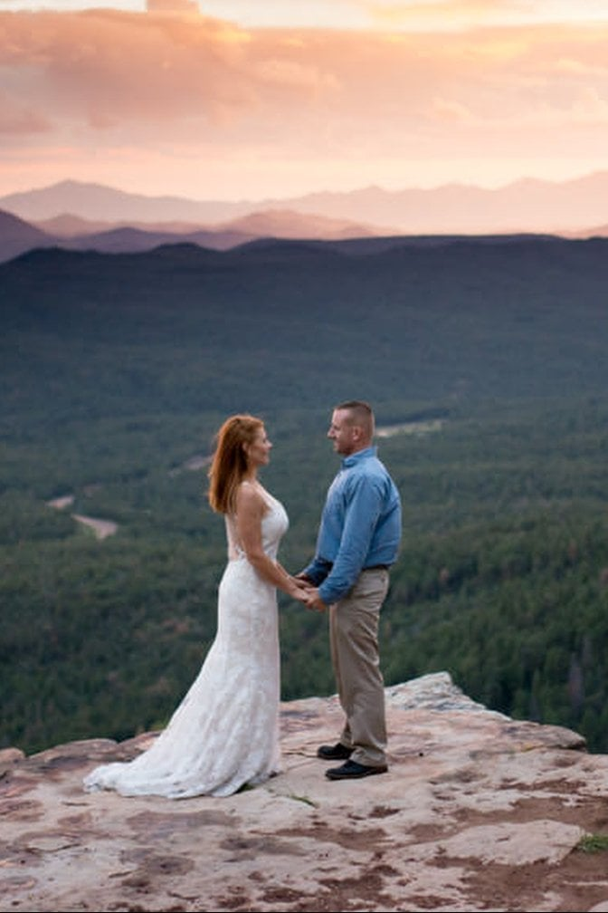 Mogollon Rim Anniversary Session in Northern Arizona | Erica & Tom