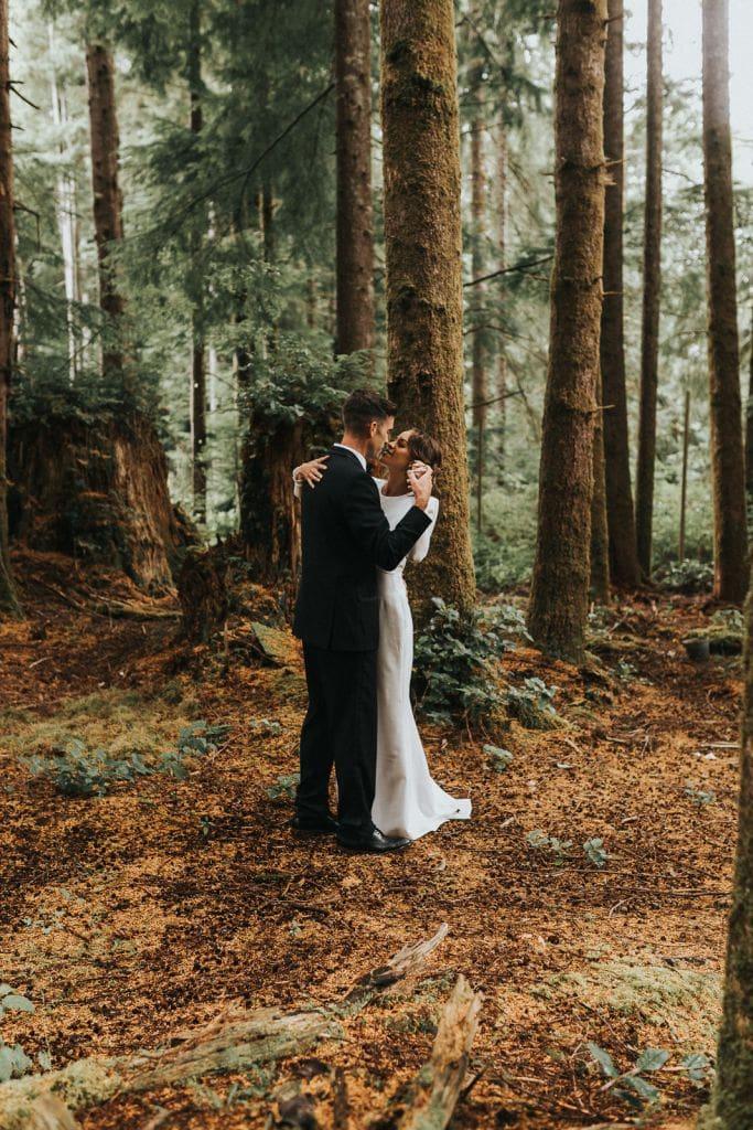 fern acres forks washington pnw forest woods elopement wedding