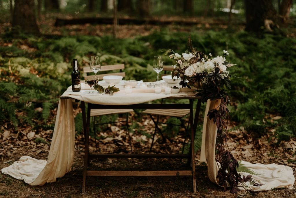 sustainable forest styled elopement wedding baltimore maryland