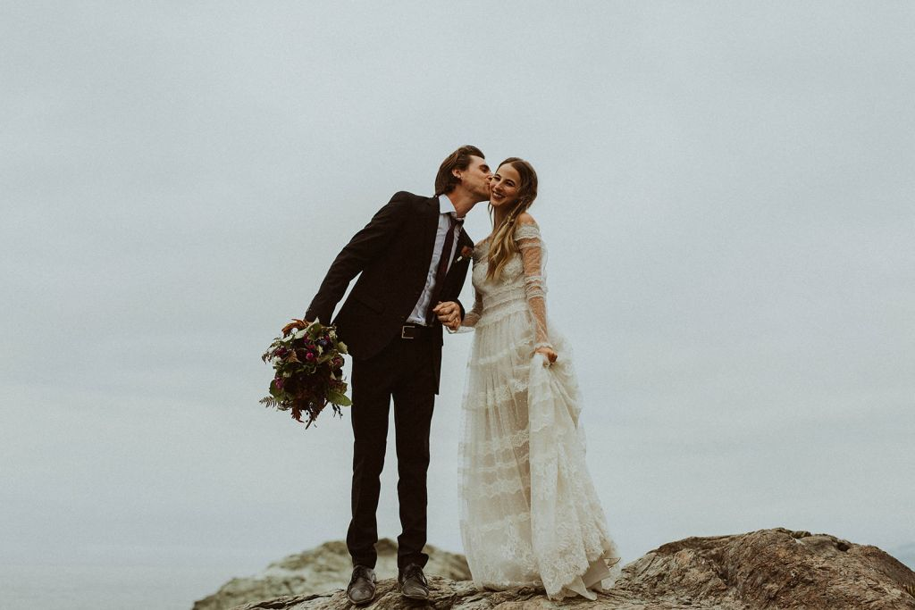 whimsical styled forest elopement wedding redwood national park california