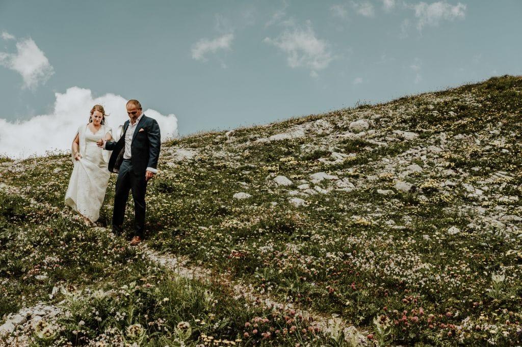 the alps mountains lech austria adventurous wedding