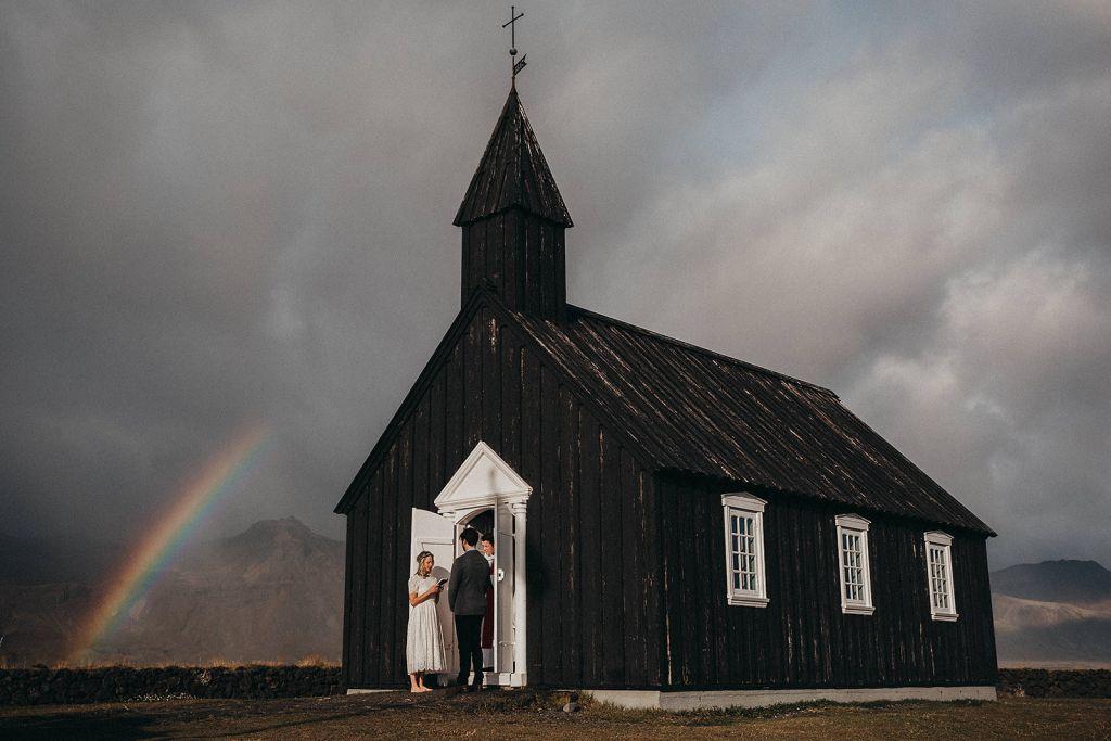 black church snaefellsnes peninsula iceland elopement adventurous wedding