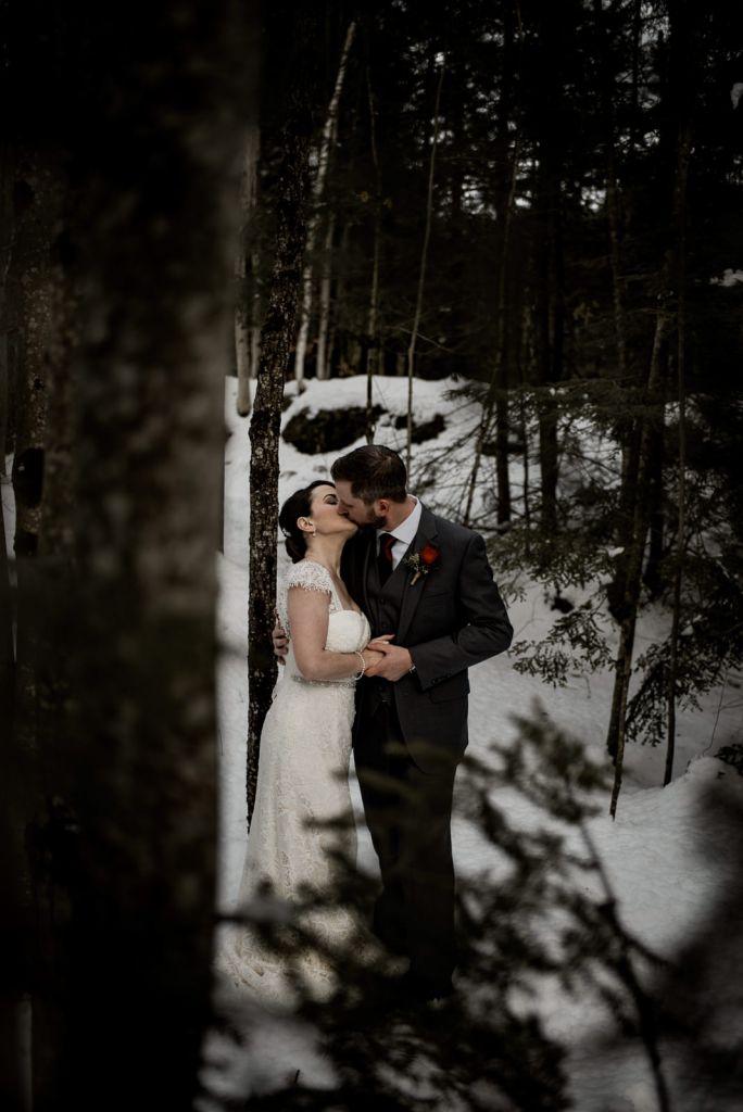 Snowy Adirondacks Elopement in Upstate, NY | Briana & Perry