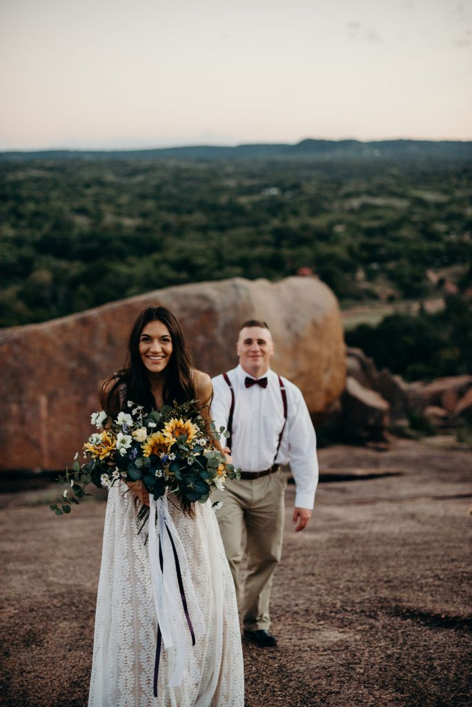 Adorable Anniversary Session at Enchanted Rock in Fredericksburg, TX | Alex & Michael