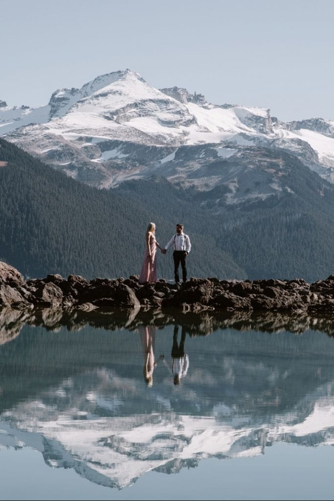 Mountainous Lake Engagement Session in BC, Canada | Cara-lee & Scott