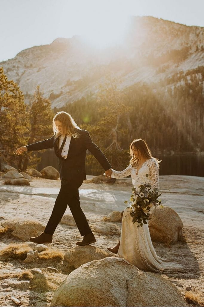 Adventurous Sunrise Elopement in Yosemite National Park, CA | Maranda & Danny