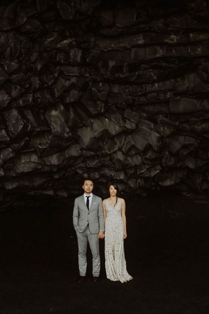 Chilly, Waterfall Engagement Session in Reykjavik, Iceland | Tiffany & Lu
